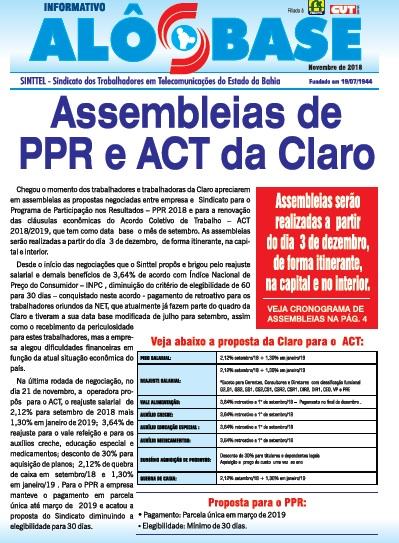 Sinttel convoca trabalhadores da Claro para assembleias de ACT e PPR