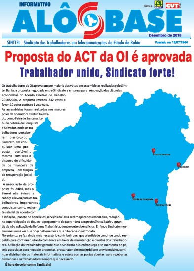 Proposta do ACT da OI é aprovada