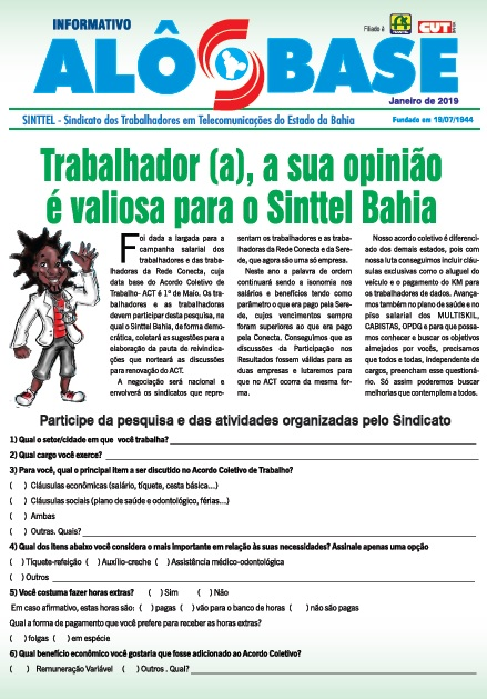Sinttel Bahia inicia campanha salarial na Rede Conecta