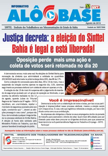 Justiça decreta: a eleição do Sinttel Bahia é legal e está liberada!