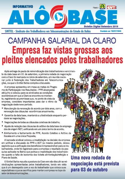 CAMPANHA SALARIAL DA CLARO: Empresa faz vistas grossas aos pleitos elencados pelos trabalhadores