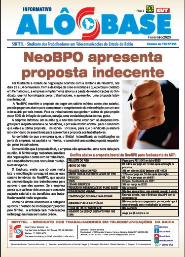 Neobpo apresenta proposta indecente