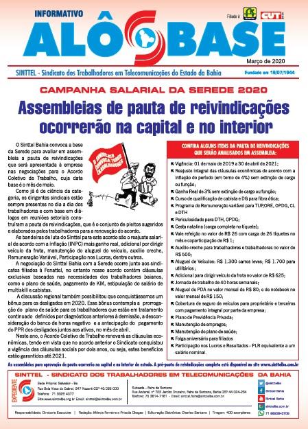 Assembleias de pauta de reivindicações do ACT da Serede ocorrerão na capital e no interior