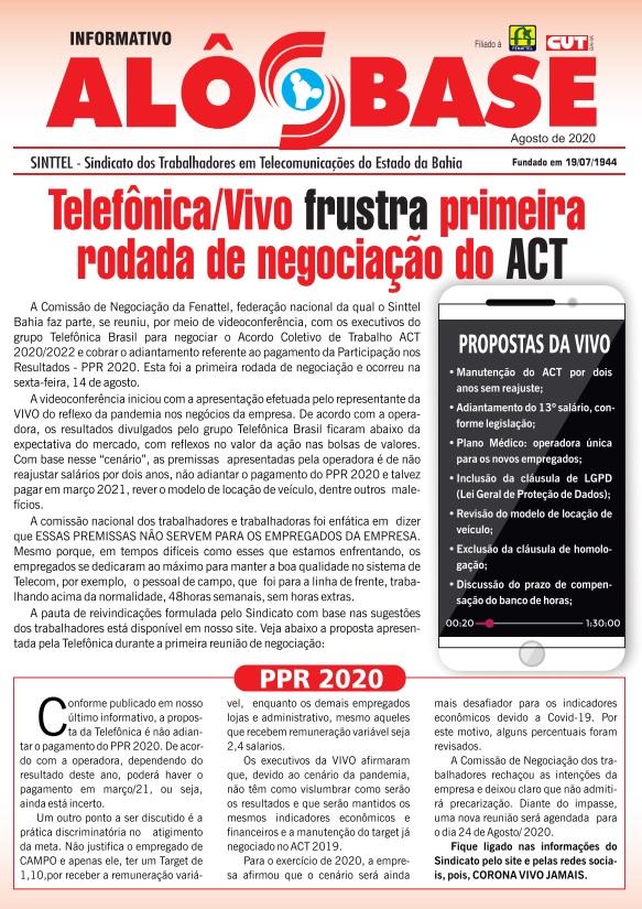 Telefônica/Vivo frustra primeira rodada de negociação do ACT