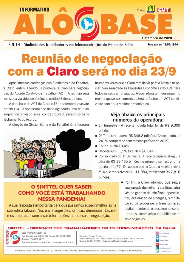 Reunião de negociação com a Claro será no dia 23/9