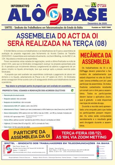 Assembleia do ACT da Oi será realizada na terça (08)