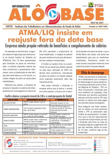 ATMA/ LIQ insiste em reajuste fora da data base