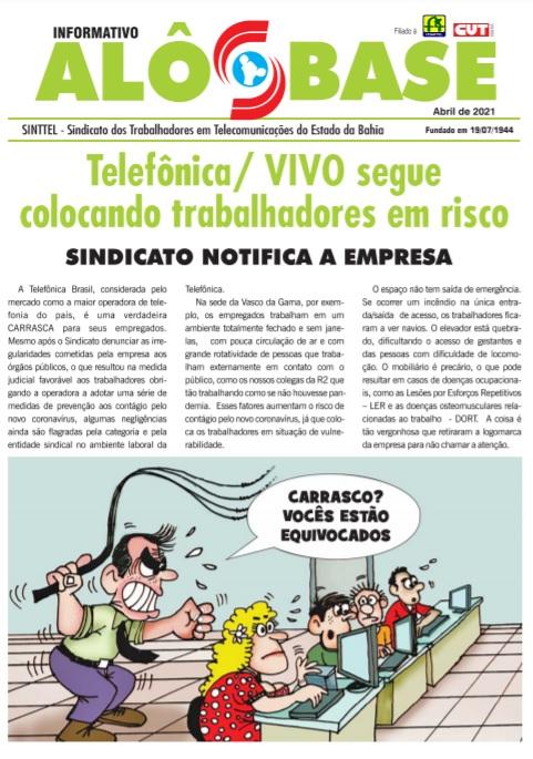 Telefônica/ VIVO segue colocando trabalhadores em risco