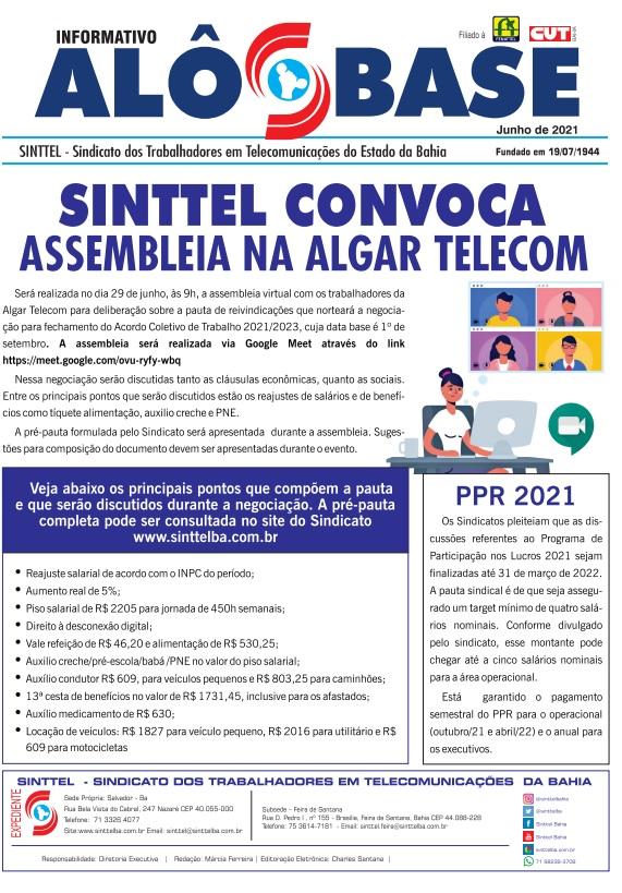 Sinttel convoca assembleia na Algar Telecom