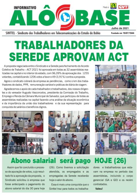 Trabalhadores da Serede aprovam ACT 2021