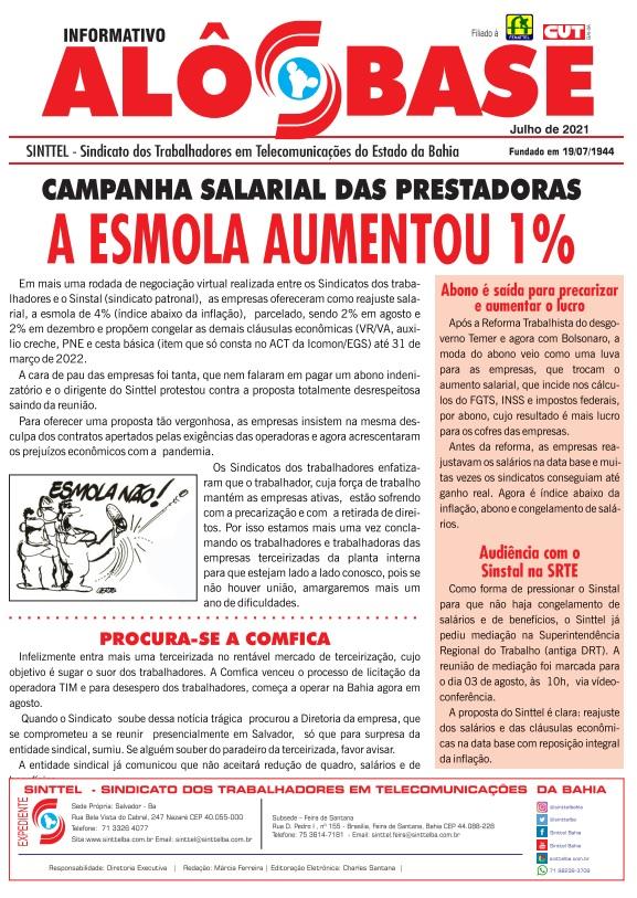 Campanha salarial das prestadoras l A esmola aumentou 1%
