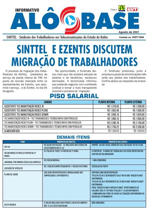 Sinttel  e Ezentis discutem migração de trabalhadores