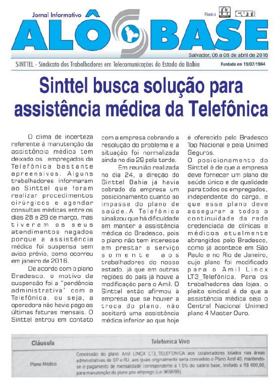 Sinttel busca solução para assistência médica da Telefônica