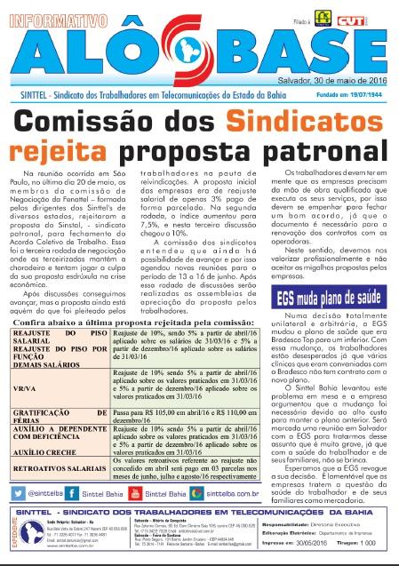Comissão dos Sindicatos rejeita proposta patronal