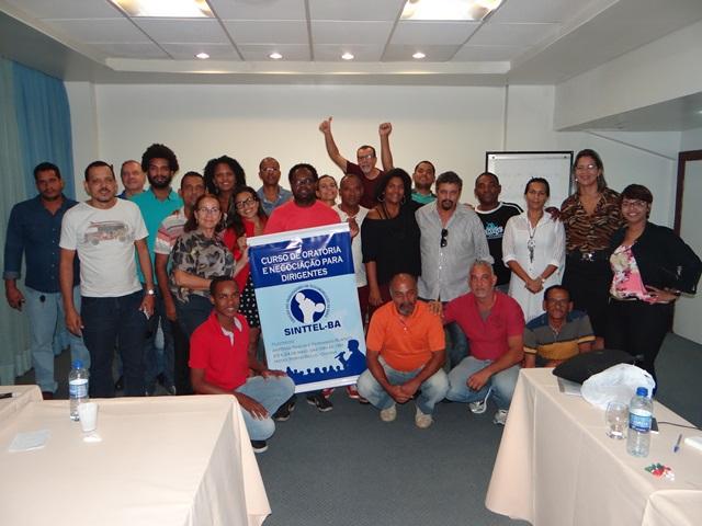 Sinttel Bahia promove curso de Oratória e Negociação para dirigentes sindicais