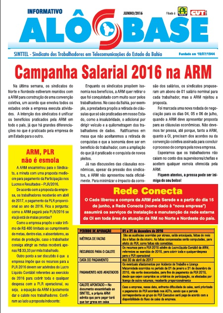 Campanha Salarial 2016 na ARM