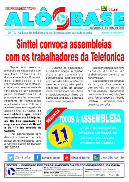 Sinttel convoca assembleias com os trabalhadores da Telefonica