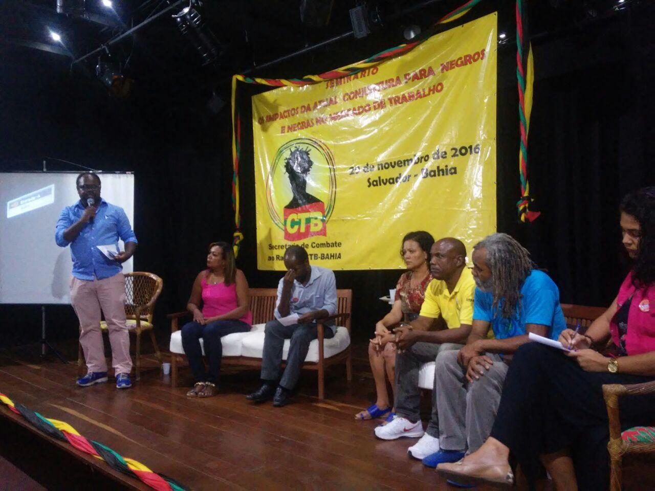 Sinttel participa de seminário sobre conjuntura e o negro no mercado de trabalho