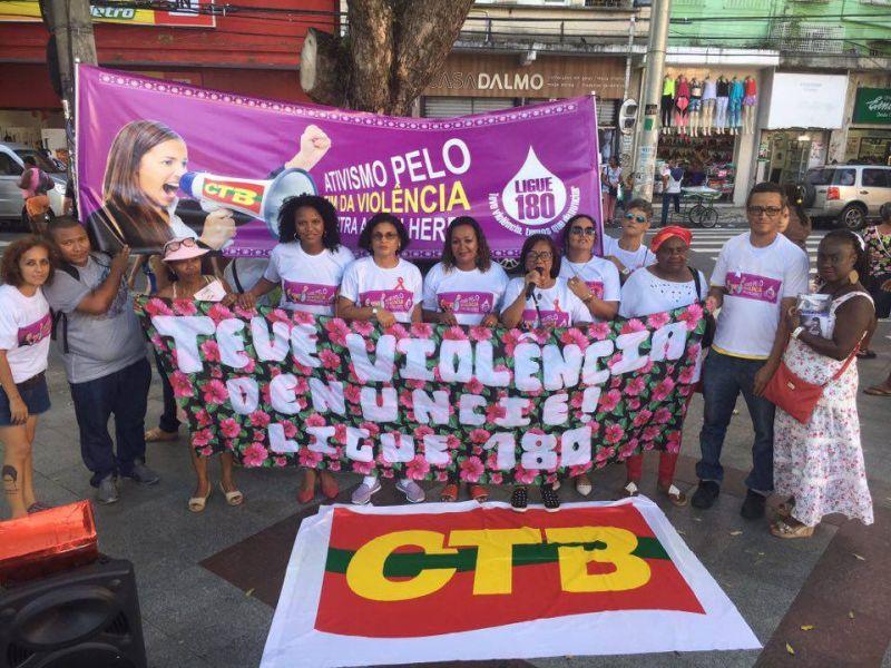 Sinttel Bahia participa de ato pelo fim da violência contra a mulher
