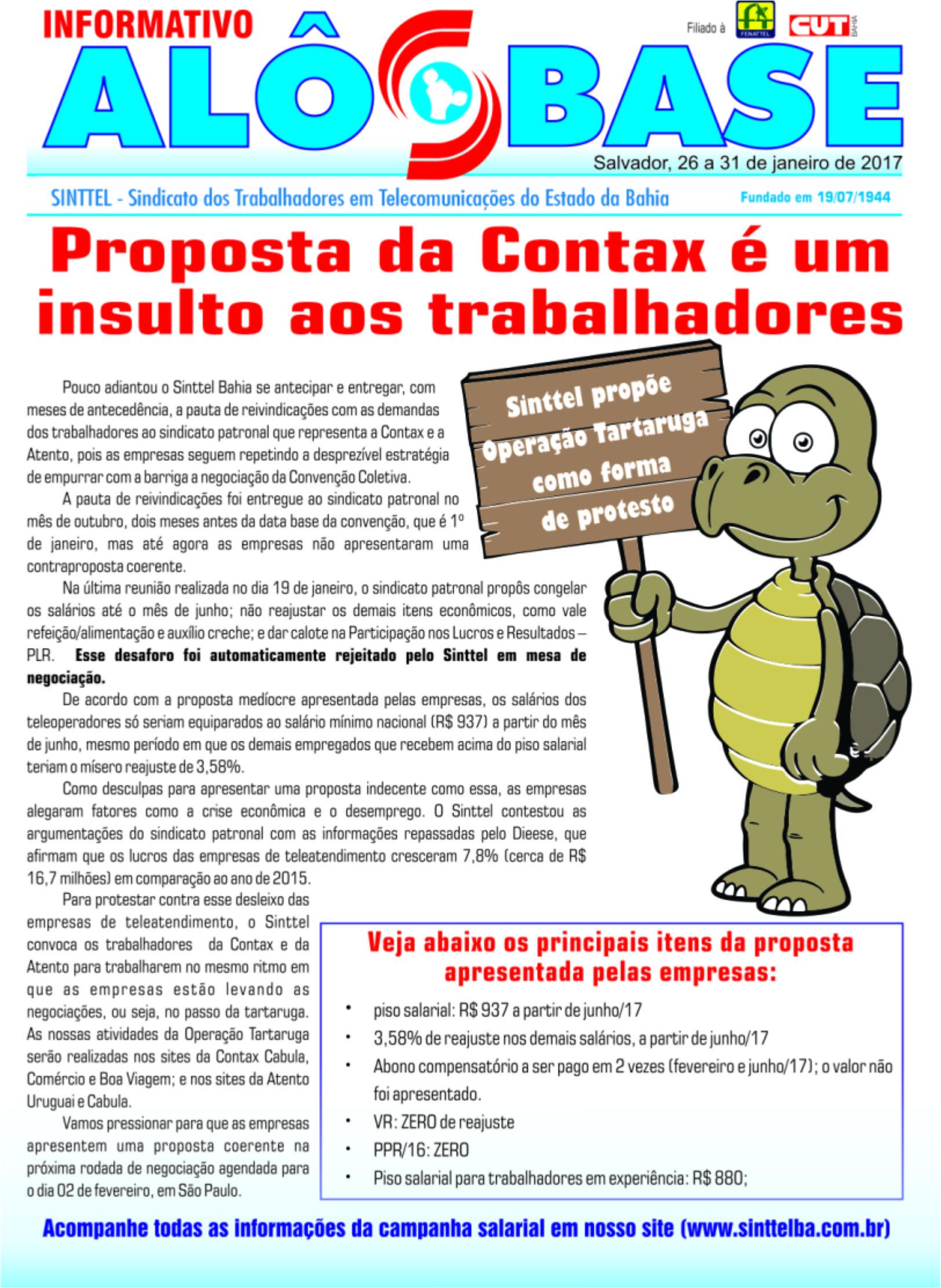 Proposta da Contax é um insulto aos trabalhadores