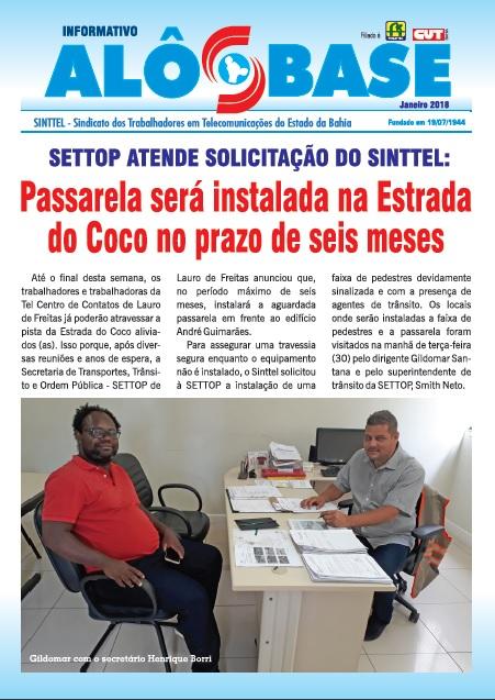 SETTOP atende solicitação do Sinttel: Passarela será instalada na Estrada do Coco no prazo de seis meses