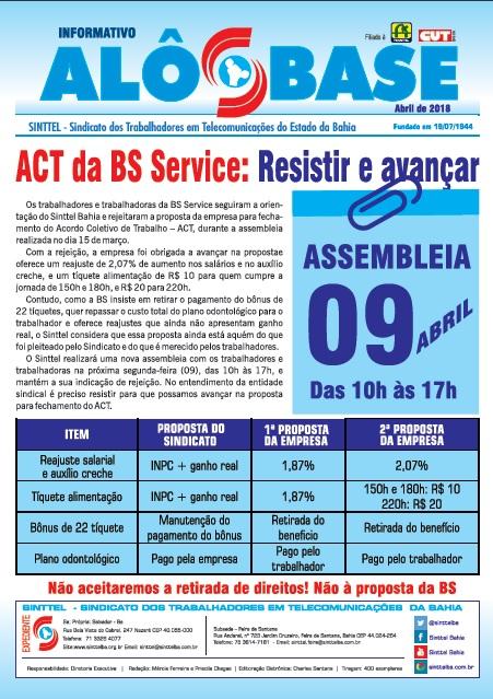 ACT da BS Service: Resistir e avançar
