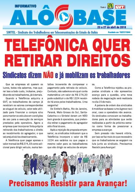 Telefônica quer retirar direitos