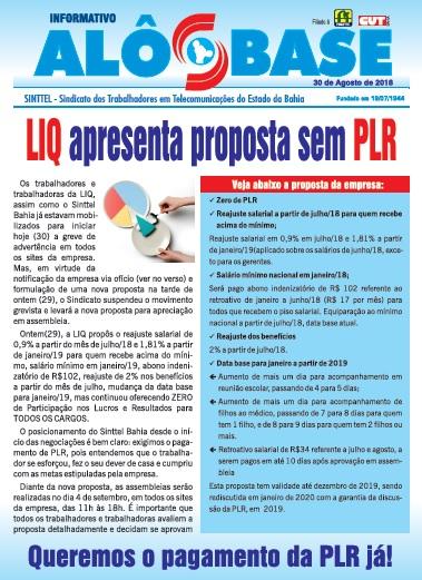 LIQ apresenta proposta sem PLR