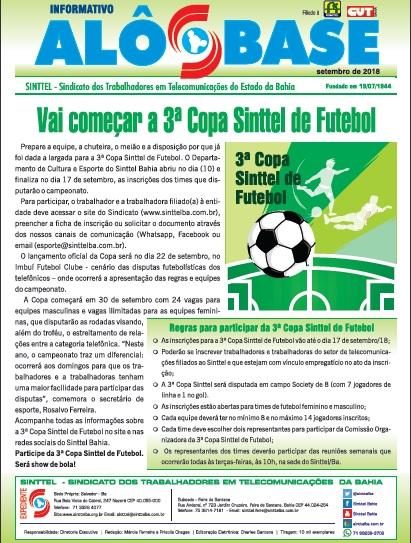 Abertas inscrições para a 3ª Copa Sinttel de Futebol